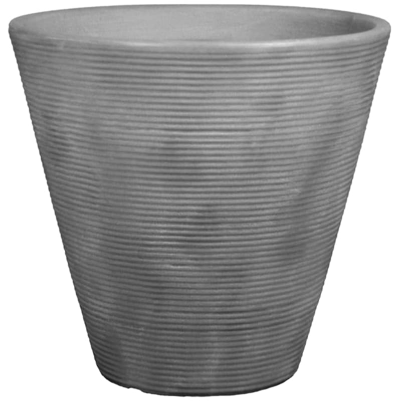 Ribbed Cone 16in. Decorative Planter Antique Quarry