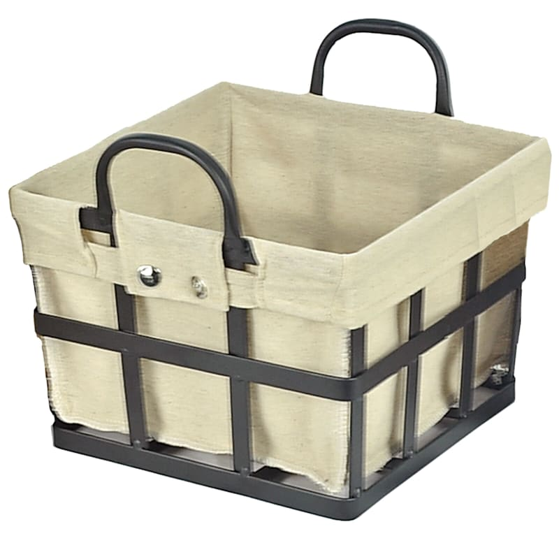 MD Square Metal Strap Basket Liner