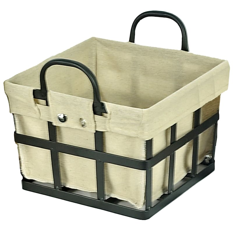 Large Square Metal Strap Basket Liner