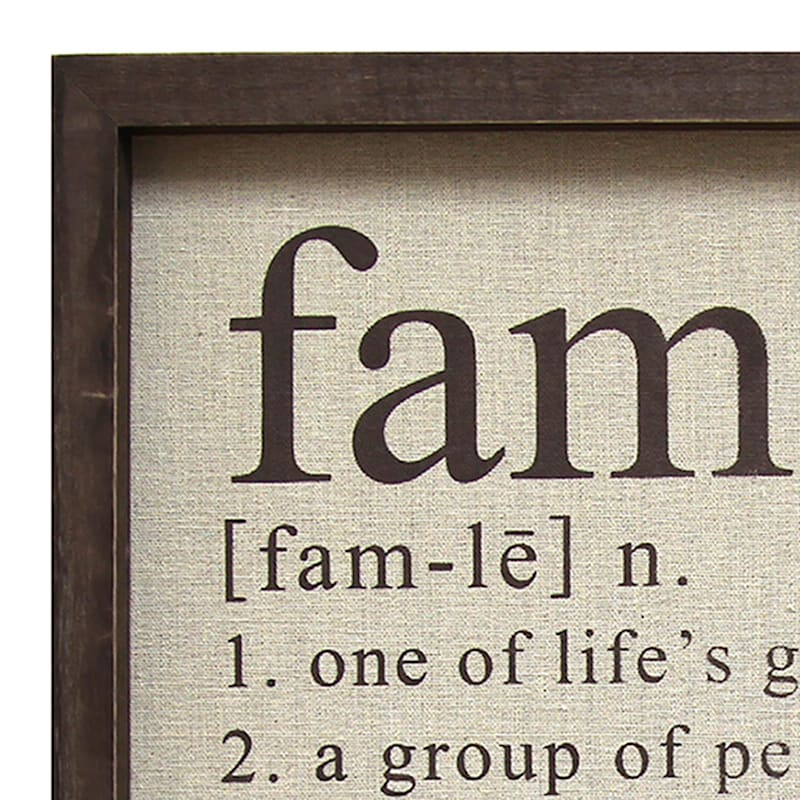 16X16 Family Definition Framed Wall Art