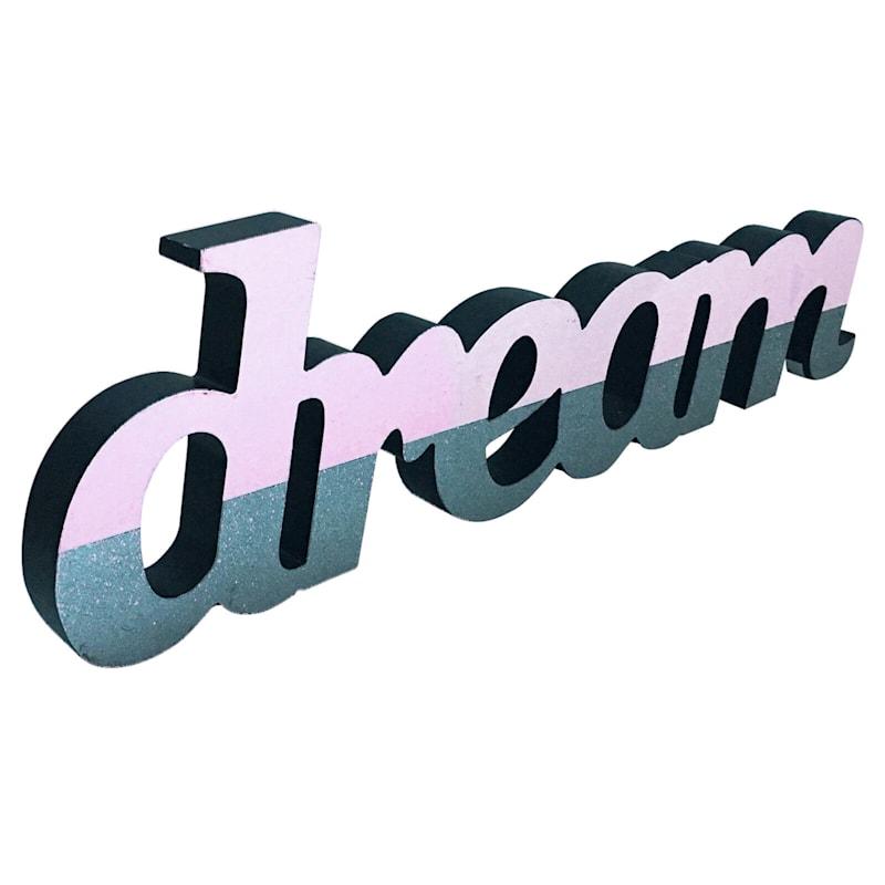 """Pink glittered """"Dream"""" - 18.5 in"""