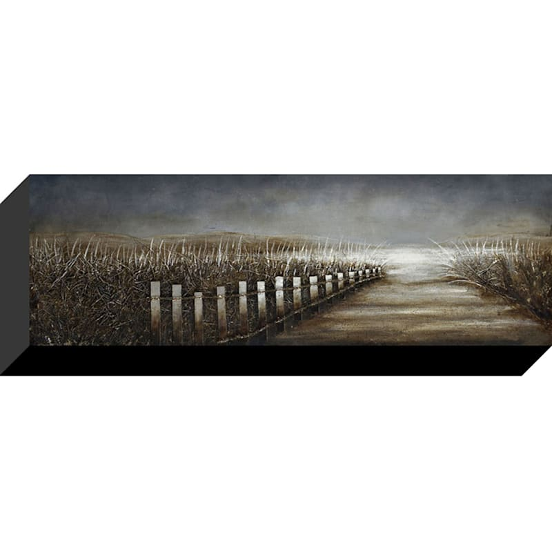 12X36 Coastal Path Enhanced Canvas