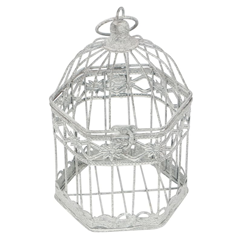 Nested Grey Pentagon Cage- 6x9 in.