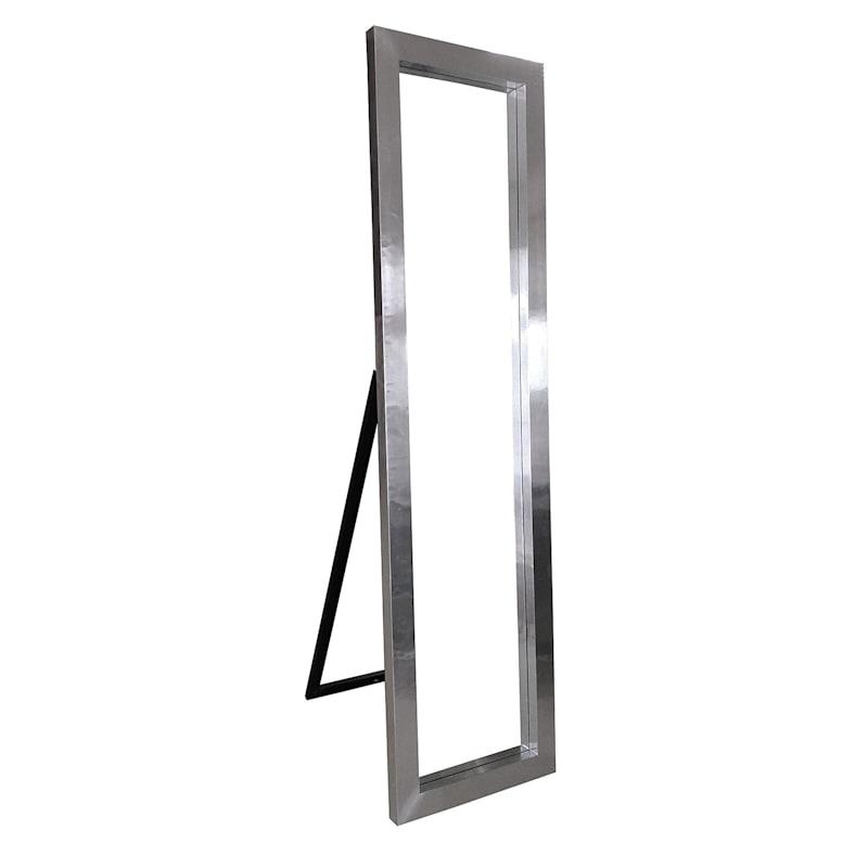 Aluminum Frame Cheval Mirror - 17 X 67in