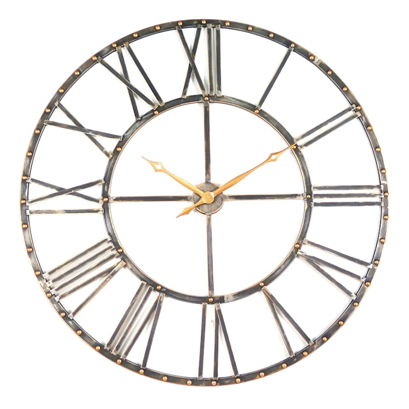 45in. Metal Round Wall Gallery Clock