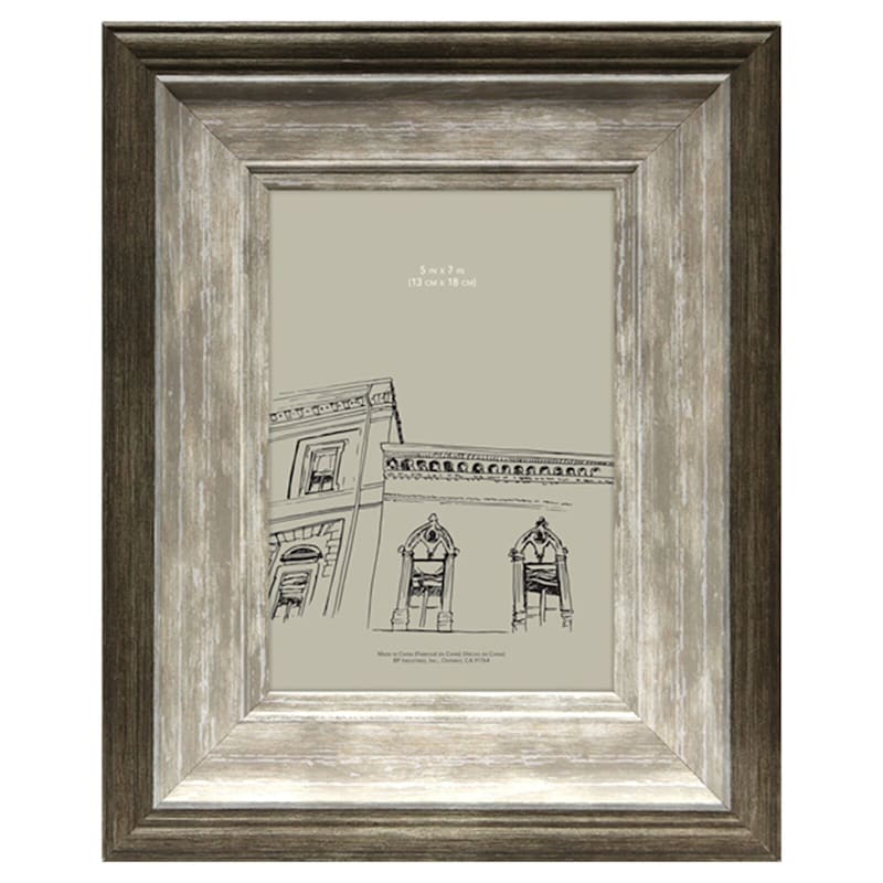 5X7 Cassandra Brown/Taupe Tabletop Frame
