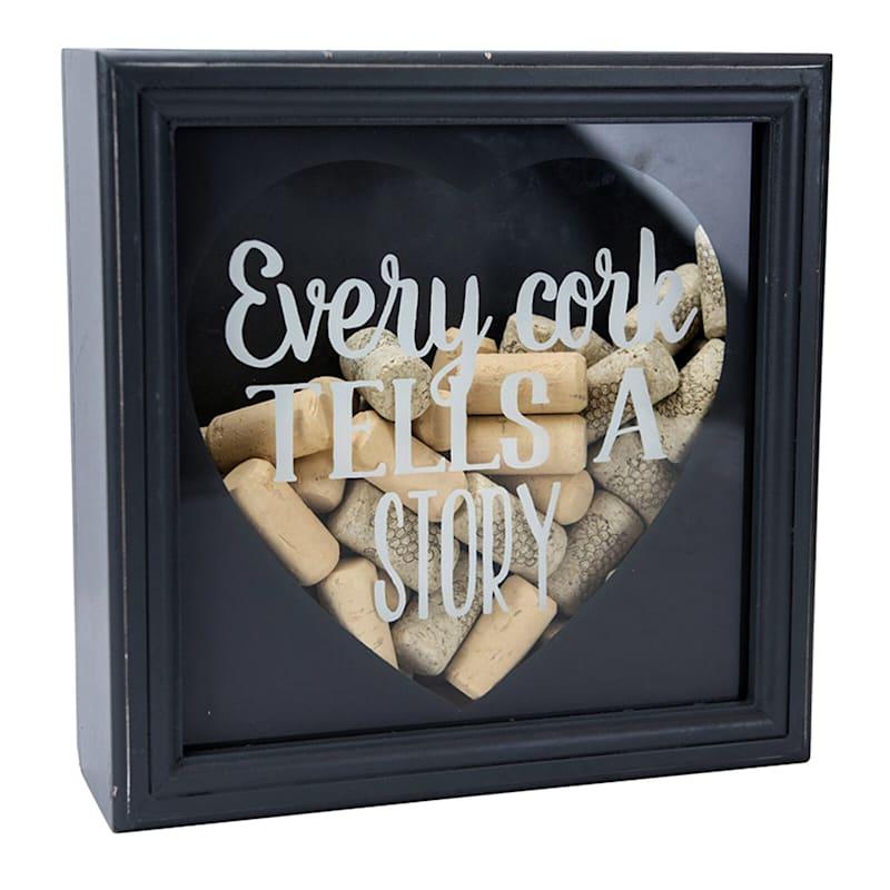 10X10 Shadow Box Cork Holder Every Cork Tells A Story Print On Glass