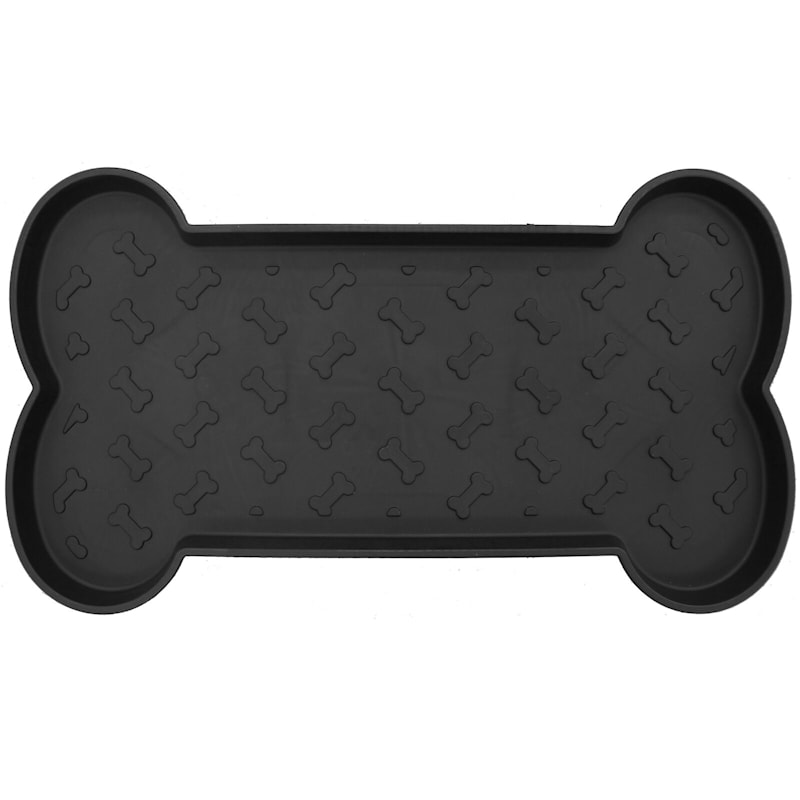 Bone Shaped Black Boot Tray 2X2