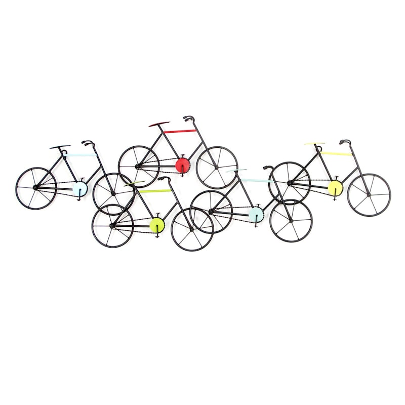 41X15 Metal Wall Bicycle Set Wall Art