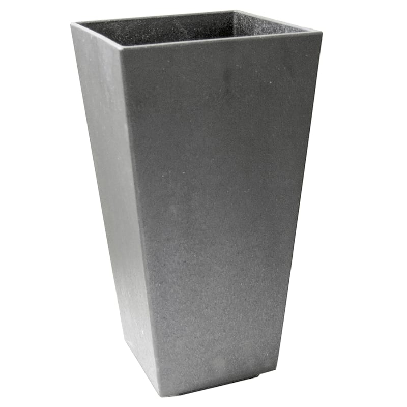 Sonata Silver Recycled Rubber Planter 8X10X20