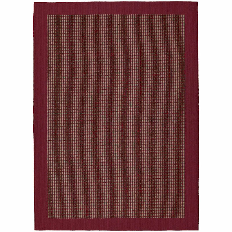 (D282) Berber Colorations Area Rug Red, 5x7