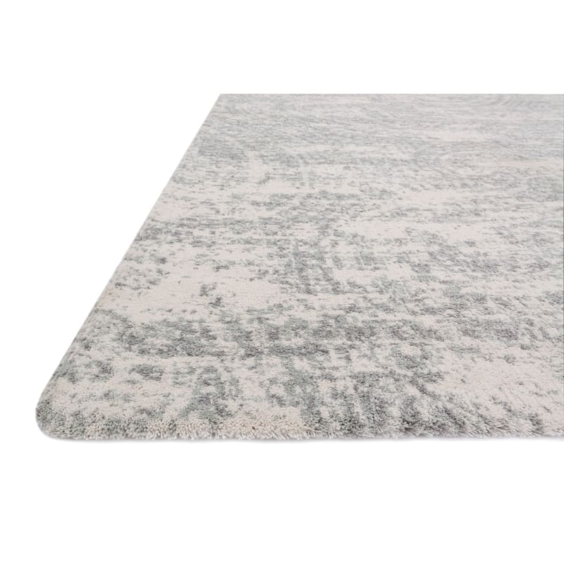 (A252) Willow Microfiber Grey Area Rug, 5x7