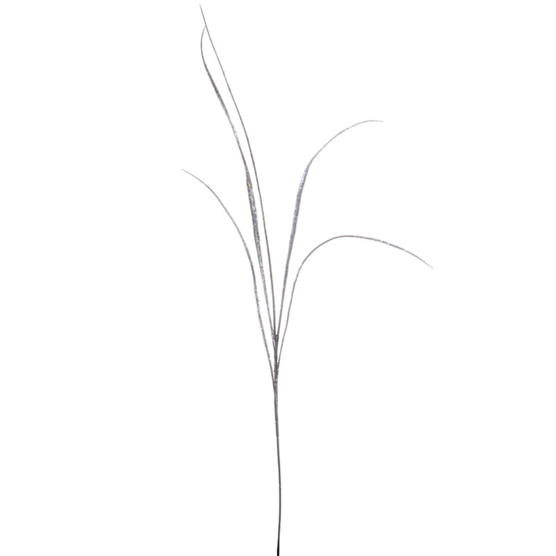 "Silver Glitter Grass Spray, 34"""