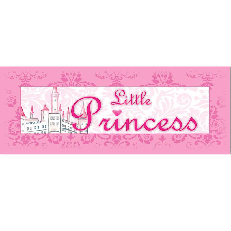 12X36 Pink Little Princess Canvas Wall Art