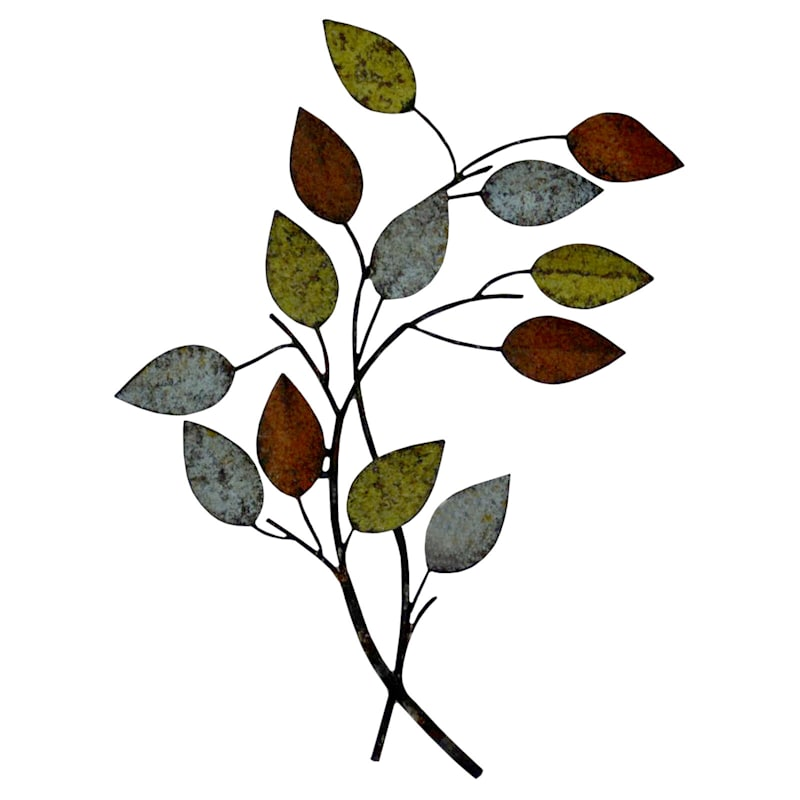 10X13 Leaves Metal Wall Decor