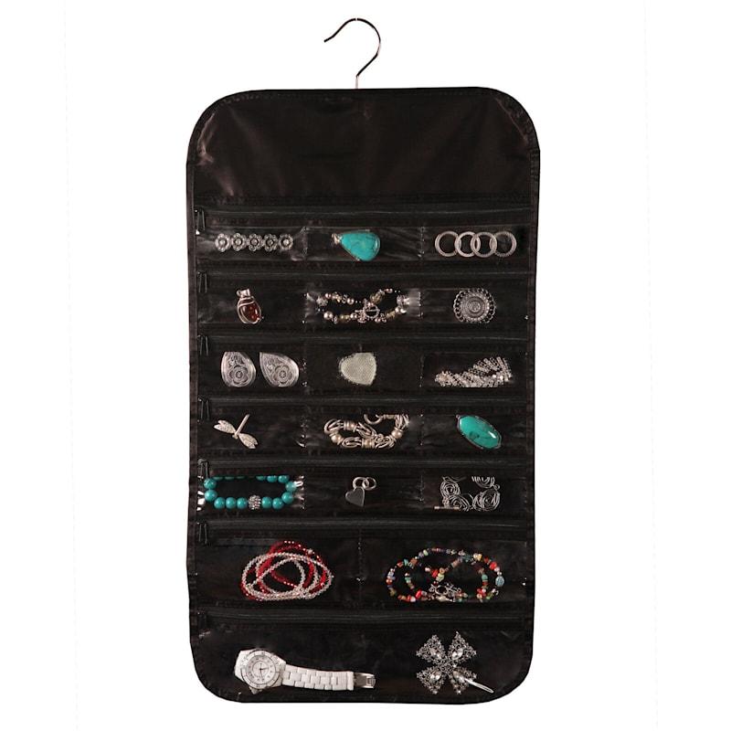 37 Pocket Jewelry Organizer Black