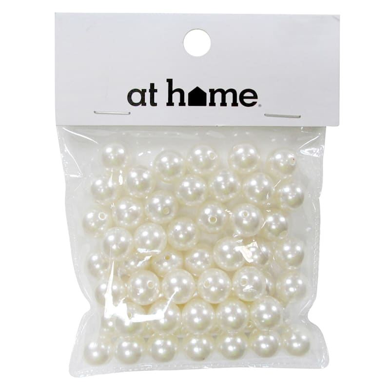 Plastic White Pearl Scatters 50 Gram In Polybag