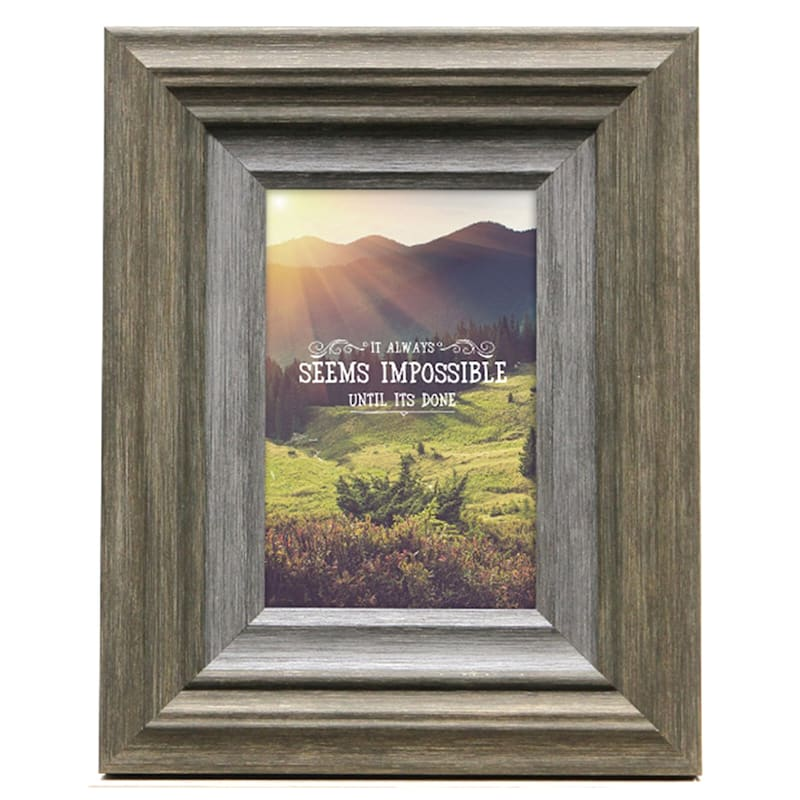 5X7 Miranda Coffee/Grey Tabletop Frame