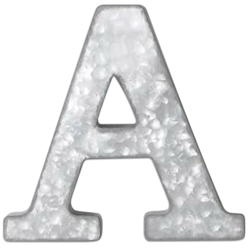 12in. Galvanized Metal Monogram A
