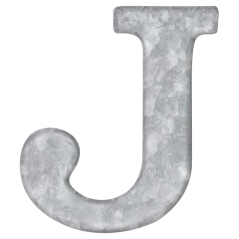 12in. Galvanized Metal Monogram J