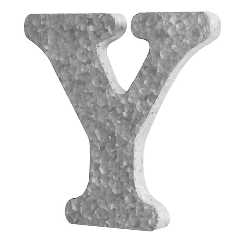 12in. Galvanized Metal Monogram Y