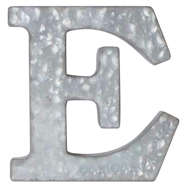 12in. Galvanized Metal Monogram E