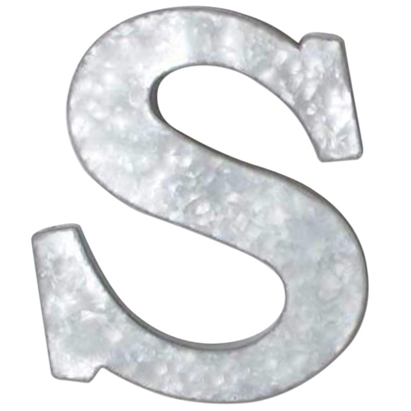 12in. Galvanized Metal Monogram S