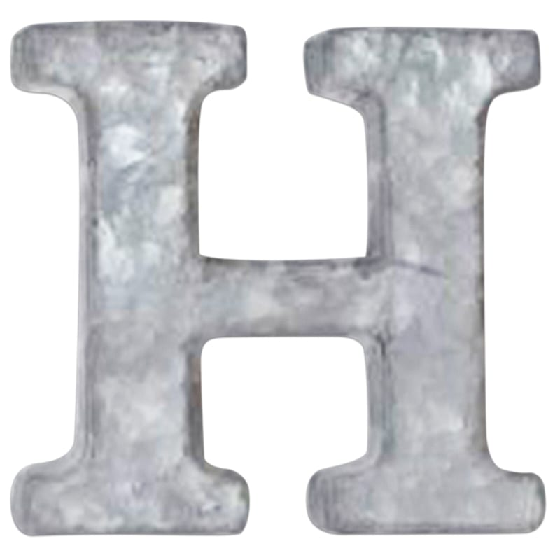 12in. Galvanized Metal Monogram H