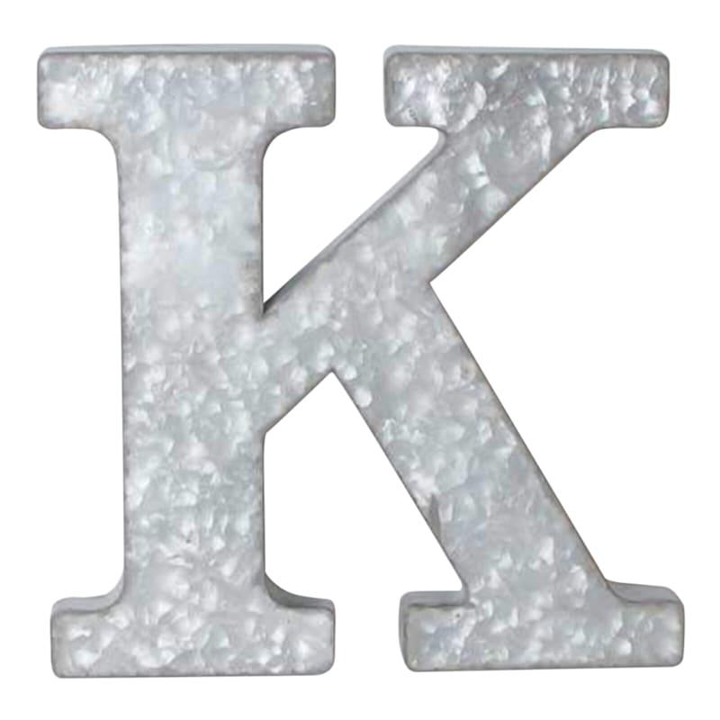 12in. Galvanized Metal Monogram K