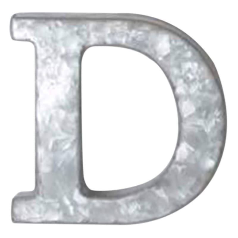 12in. Galvanized Metal Monogram D