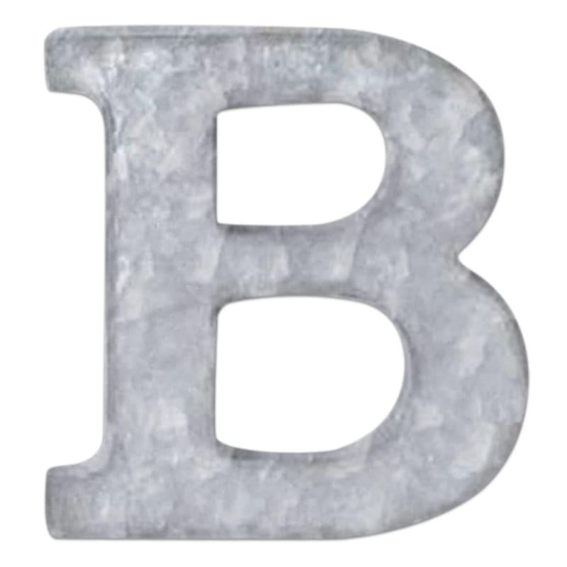 12in. Galvanized Metal Monogram B