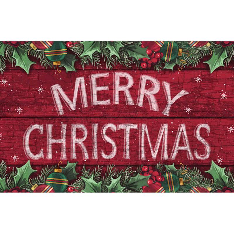 Merry Christmas Mat, 17x27