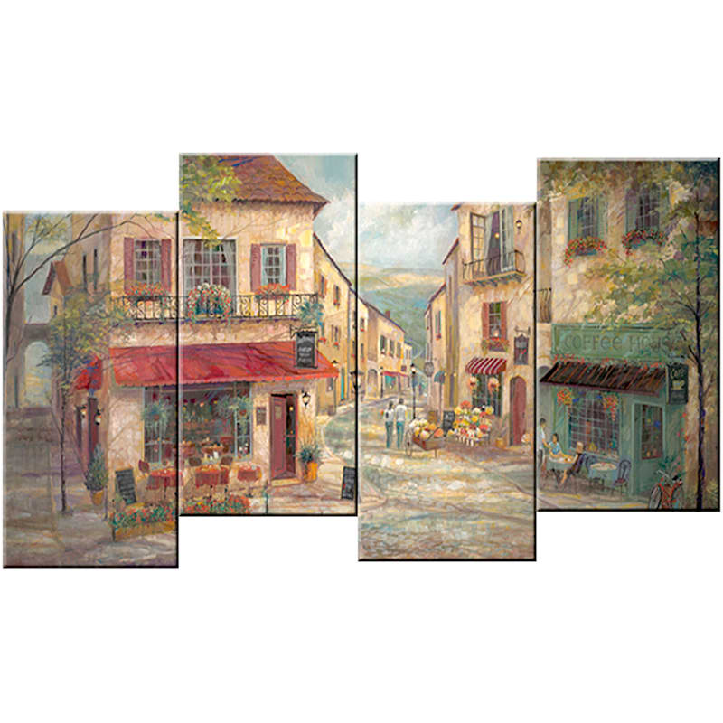 60X30 Street Scene Staggered Canvas