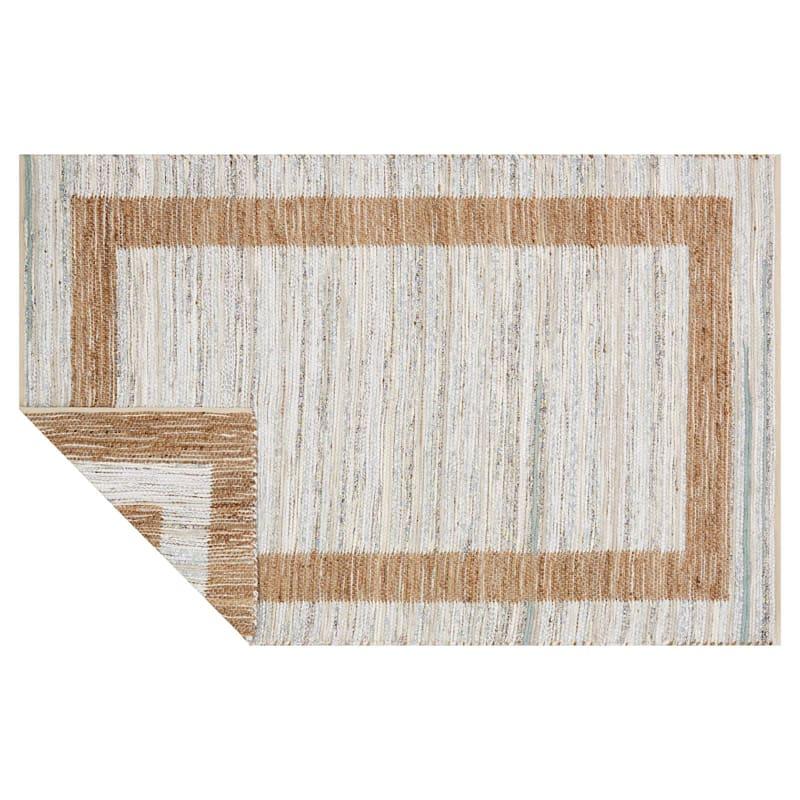 B312 Ivory Jute/Cotton Rug, 8' x 10'