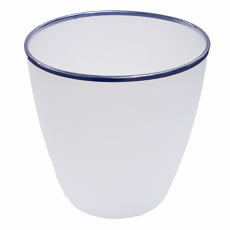 Oval Small Bin W/Chrome Rim Frosted