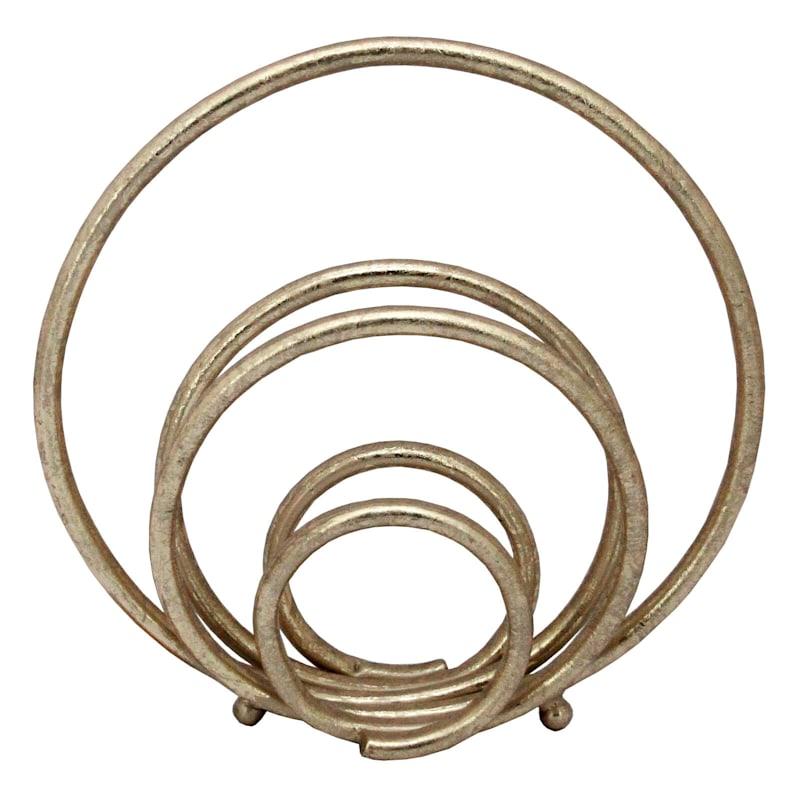 Metal Gold Circle Figure
