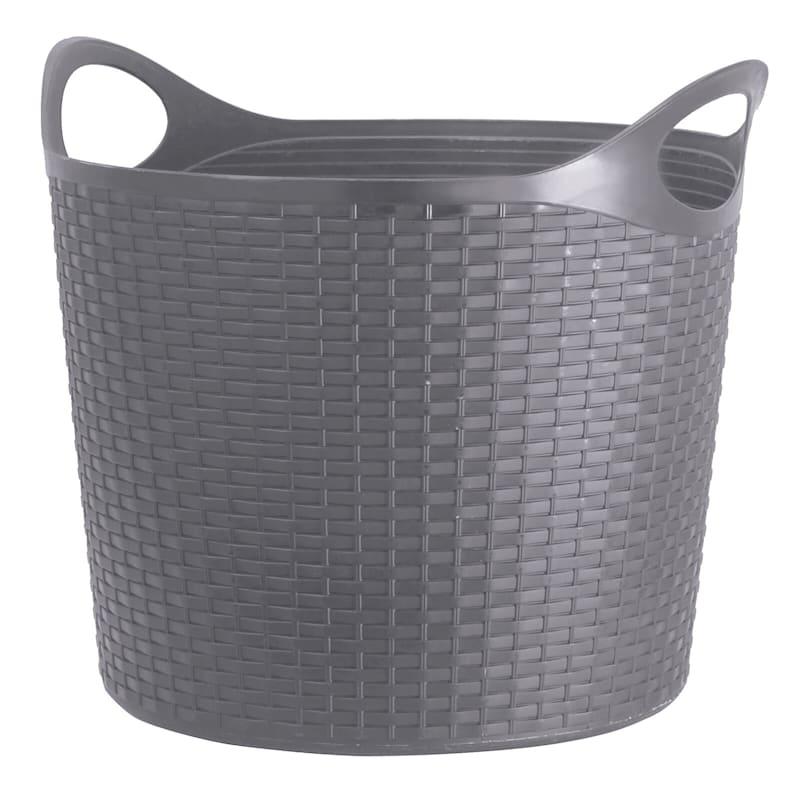Flex Wicker Tub Dark Grey