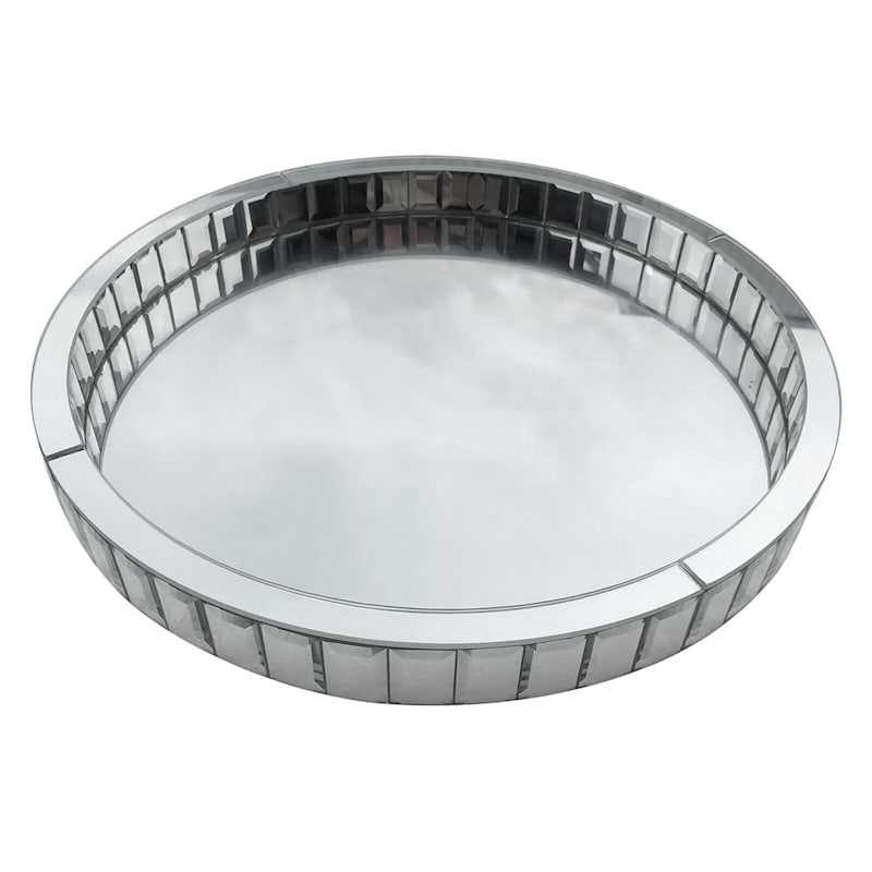 14in. Round Mirror Tray