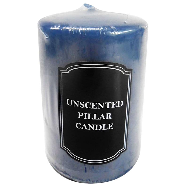 2.8X4 Overdip Pillar Candle Navy