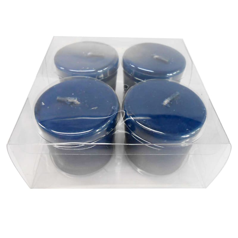 4-Pack Overdip Votive Candle Navy