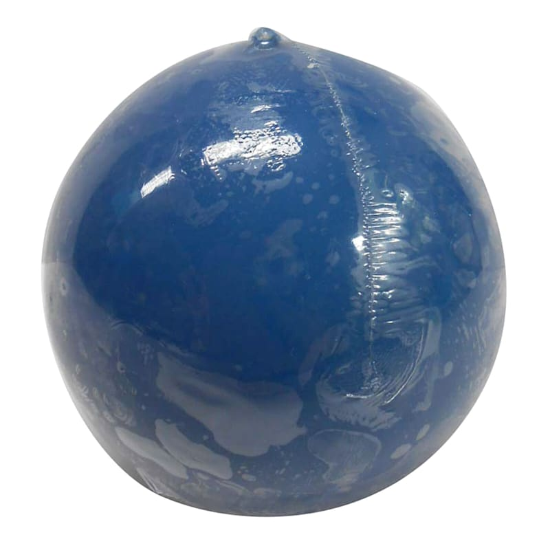 2.8in. Overdip Sphere Candle Navy