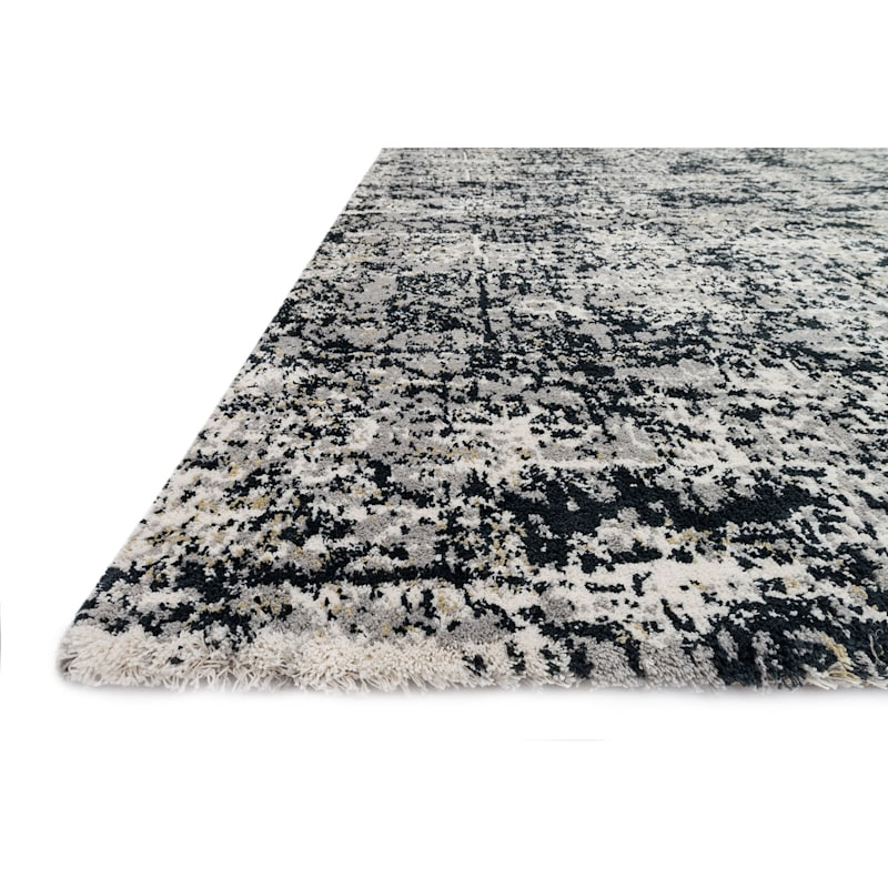 (A271) Willow Grey Ink Microfiber Area Rug, 5x8