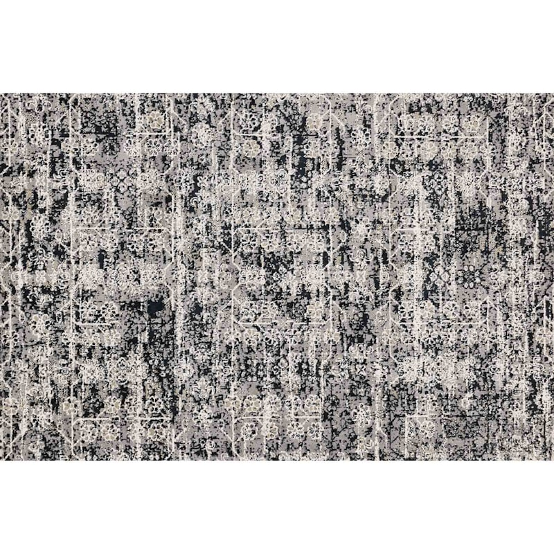A271 Willow Grey Ink Microfiber Rug- 8x10 ft