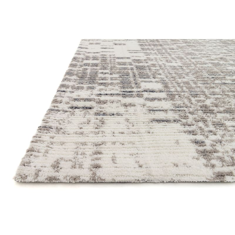 (A285) Chelsea Ivory & Grey Area Rug, 5x7