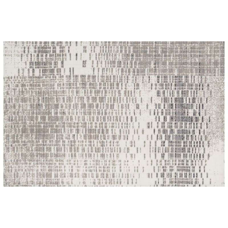 (A285) Chelsea Ivory & Grey Area Rug, 7x10