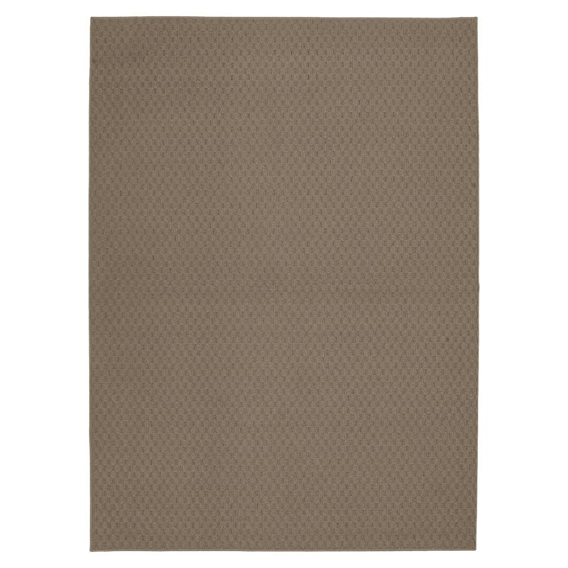 (D313) Town Square Area Rug Taupe, 5x7