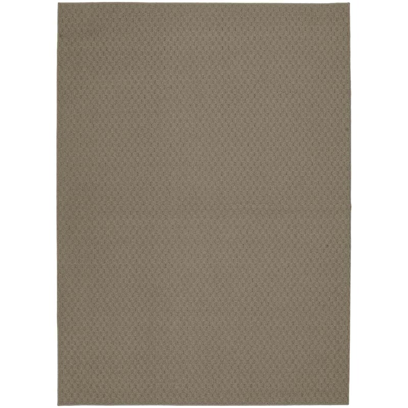 D313 TOWN SQ SOLID TAUPE 7X10