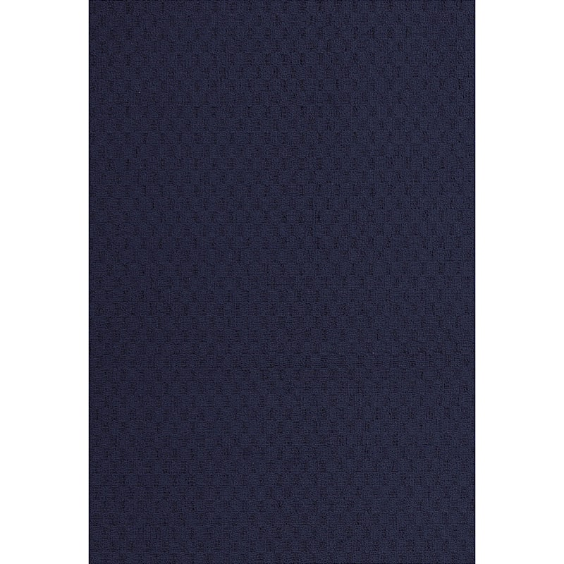 (D314) Town Square Scatter Rug Navy, 2x4