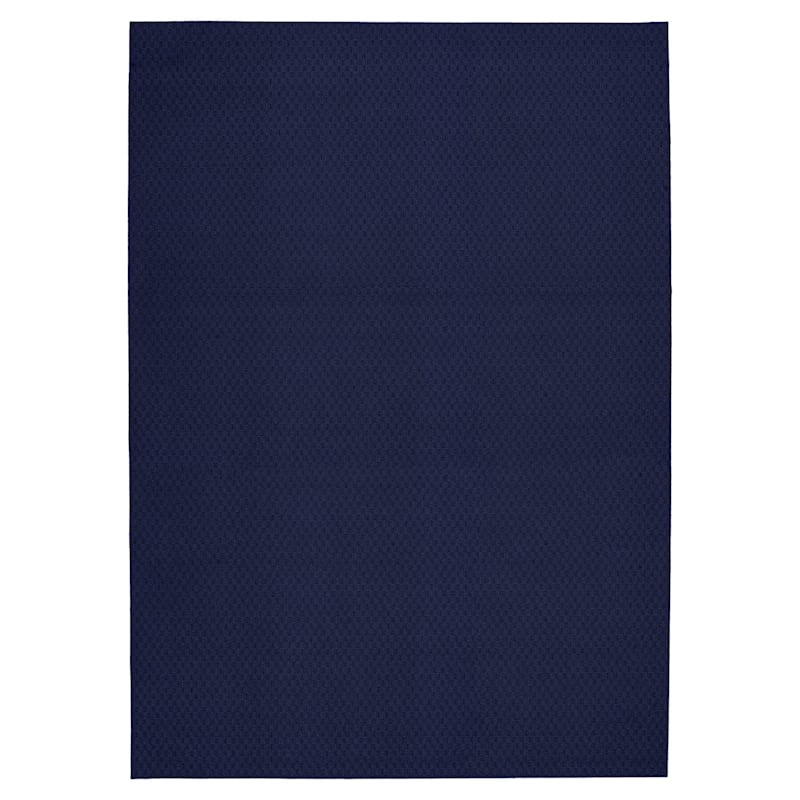 (D314) Town Square Area Rug Navy, 7x10
