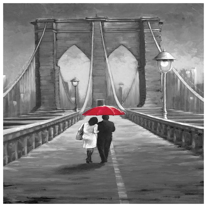 24X36 Ny Love Bridge Canvas